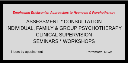 Emphasing Ericksonian Approaches to Hypnosis & Psychotherapy